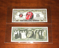 Rolling Stones Novelty Note - Bill - Note - Novelty Note - In Holder