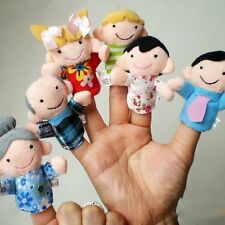 6 PCS Baby Kids Plush Cloth Play Game Learn Story Family Finger Puppets Toys Set