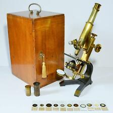 Large microscope, 'The Kosmos' by Pillischer of London, circa 1905
