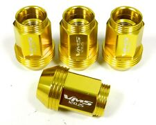 "16PC 12X1.5MM 36MM 1.40"" STANDARD LENGTH ALUMINUM LUG NUTS GOLD KIA HYUNDAI"