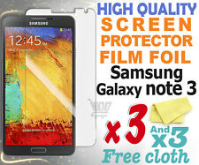 3 new High Quality Screen protection film foil for Samsung Galaxy Note 3 N9005