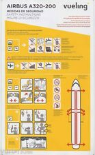 VUELING Airbus 320-200 safety card V2/14 - sc566