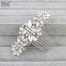 Vintage bridal crystal hair comb,rhinestone wedding bridal hair accessories