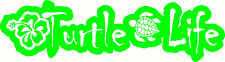 Turtle Life Vinyl Decal For Cars Walls Glass Funny Graphic bumper sticker Lime
