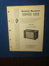 ROGERS MAJESTIC R199 RADIO SERVICE MANUAL ORIGINAL FACTORY ISSUE