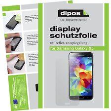 5x Samsung Galaxy S5 Schutzfolie matt Displayschutzfolie Antireflex Folie dipos