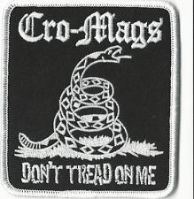 Cro-Mags- Don't Tread On Me Embroidered Patch