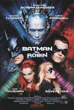 "BATMAN AND ROBIN 1997 Original DS 2 Sided 27z40"" Movie Poster George Clooney"