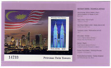 1999 Malaysia Petronas Twin Towers KLCC Imperf Mini-Sheet Stamp Mint NH