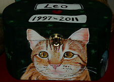Custom hand painted portrait Wooden box cat urn any Pet special order second box