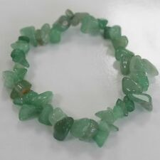 Jade Crystal Chip Bracelet Stretch Reiki Gemstone Costume Jewellery Gift Charm
