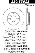 Power Slot Slotted Brake Rotor fits 1983-1993 Volkswagen Cabriolet Golf Jetta,Sc