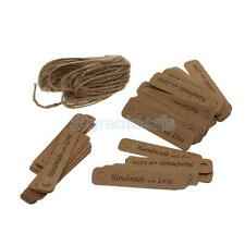 100pcs Handmade with love Kraft Paper Hang Tags Wedding Favor Gift Label
