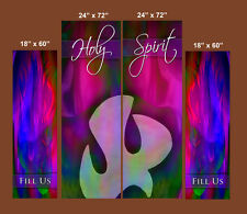 Inspirational Christian Church Banners - Holy Spirit / Fill Us (FOUR BANNER SET)