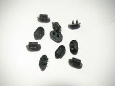 10 Black Plastic Double Hoods for HO Scale D type Signals