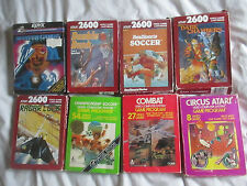 8 BOXED ATARI 2600 GAMES BUNDLE LOT / CIRCUS/COMBAT/RADAR LOCK/SOCCER/WINTER