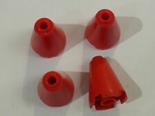 Lego 4 cones rouges  set 3178 8677 5590 9376 / 4 red cones open stud