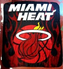 Miami Heat NBA 50 x 60 Fleece Throw Logo Couch Blanket Bedding