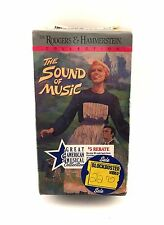 The Sound of Music VHS 2-Tape Rodgers + Hammerstein - Blockbuster Video SEALED!!