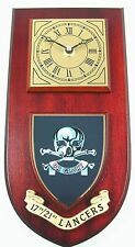 17TH 21ST QUEENS ROYAL LANCERS CLASSIC HAND MADE TO ORDER WALL CLOCK