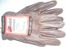 Lambert Women Brown Deerskin Leather Work/Drive Wrist Glove Unlined S/M US Made