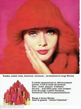 PUBLICITE ADVERTISING 126  1964  maquillage rouge lèvrees Revlon  Colors Unlimi
