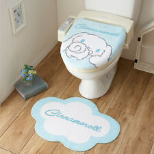 NEW! Sanrio Cinnamoroll  toilet lid cover mat set from JAPAN