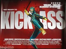 KICK ASS  ORIG CINEMA 2010 QUAD POSTER AARON TAYLOR JOHNSON CHLOE GRACE MORETZ