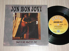 "JON BON JOVI - MIRACLE / DYIN' AIN'T MUCH OF A LIVIN' - 45 GIRI 7"" UK PRESS"