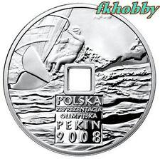 Poland 2008 silver 10 zl Beijing Olimpiada Olympiade Olympics Sport Pekin