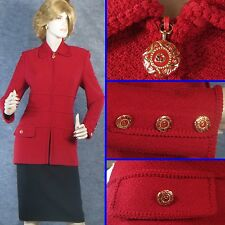 BEAUTIFUL!  ST JOHN COLLECTION KNIT RED JACKET SIZE 8