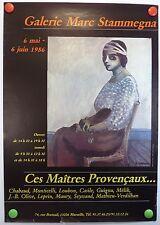 1986 Marc Stammegna à Marseille exposition A. CHABAUD AFFICHE ORIGINALE/2bPB