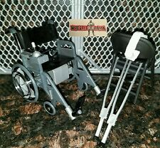 WWE WHEELCHAIR CRUTCHES CHAIR WRESTLING FIGURE MATTEL ELITE ACCESSORY LOT