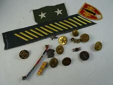 WWII WWI era Vintage Military Pin Button Patch Bar Medal Set United States Old