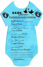 Baby Shower Games/Gift for MUM Prediction Cards (10 Players) FIRST CLASS POST