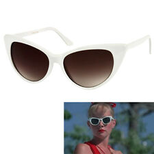 Womens White Cat Eye Sunglasses Vintage Retro 50's Wendy Peffercorn Movie star