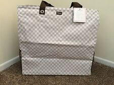 31 Thirty One Room for 2 Utility Tote Taupe Gingham NEW