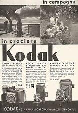 W9691 KODAK Junior e Vollenda - Pubblicità del 1936 - Old advertising