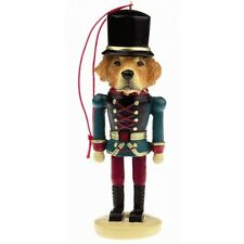 Golden Retriever Dog Toy Soldier Nutcracker Christmas Ornament