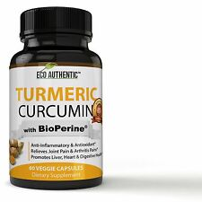 Turmeric Curcumin Root with BioPerine Black Pepper Extract - 95% Standardized...
