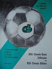 Programma 1983/84 BSG Chemie Buna Schkopau-CH. Böhlen