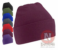 Beanie Hat with turn up washable acrylic beenie festival club winter warm NEW