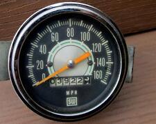 Vintage Stewart Warner Greenline 160 MPH Speedometer True 1960's Green Line WOW!