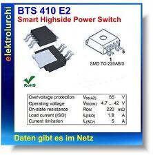 BTS410E2, Smart Highside Power Switch, 1,8Amp./ 65VDC, SMD, BTS 410 E2 1St