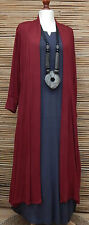 LAGENLOOK AMAZING BOHO SOFT LONG CARDIGAN/COAT*MAROON* SIZE XXL BUST 46-48""""
