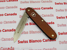 Swiss Bianco Exclusive Victorinox Solo Chocolate Brown Alox Swiss Army Knife