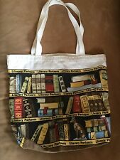 LITERACY PARTNERS Canvas Tote Bag NWOT