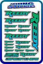 REEDY RC STICKERS DRIFT TOURING MOTOR ESC BATTERY AE 1/12 1/10 RACE BLUE GREEN B