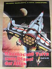 Filmposter*Kinoplakat * A1 - Raumschiff Terra zum Planet der Affen -Duell im All