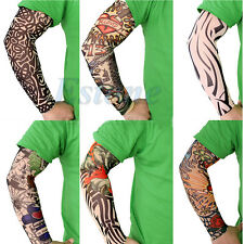New 6 Pcs Fake Temporary Party Realistic Tatoo Slip On Tattoo Arm Covers Sleeves